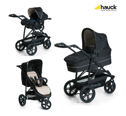 Hauck Rapid 3 Plus Trio Set 2020 kočík caviar/beige